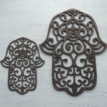 HAMSA HOME DECOR Protection Amulet for home wall decor hamsa hand wood hamsa
