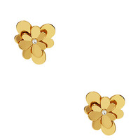 Kate Spade Pansy Blossoms Studs Gold ONE