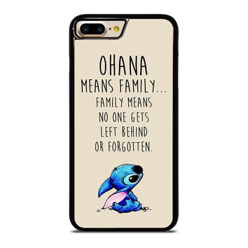 STITCH LILLO OHANA FAMILY QUOTES iPhone 7 Plus Case Cover