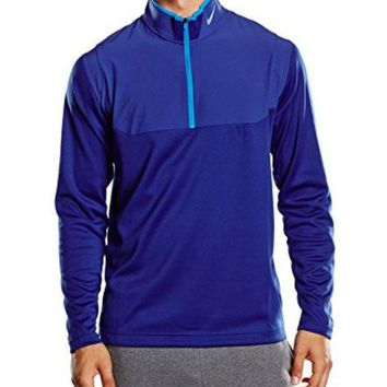 DCCK8BW Nike Golf Dri-FIT 1/2-Zip Top DEEP ROYAL BLUE/DEEP ROYAL BLUE/PHOTO BLUE/WOLF GREY S