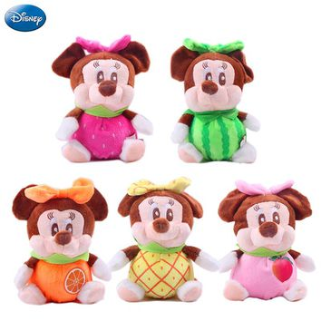 Disney Stuffed Animals Plush Mickey Mouse Minnie Fruit Orange Pineapple Cherry Watermelon Grape Birthday Gift Kid Girl Toy