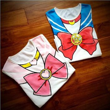 Sailor Moon Chibimoon Kawaii Cute T-Shirt Top