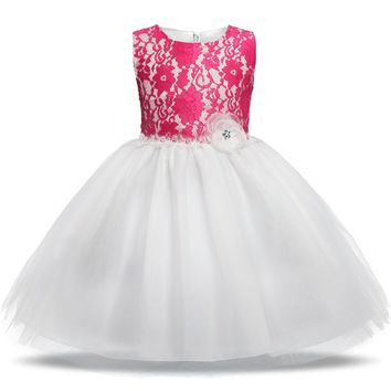 Newborn Infant Baby Dress Wedding Girls Christening Clothes 1 year birthday Princess Dresses tutu kids Dress Baby Girl clothing
