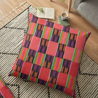 'KENTE PATTERN ' Floor Pillow by planetterra