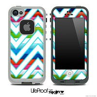 Large Chevron and Neon Color Bar Skin for the iPhone 5 or 4/4s LifeProof Case