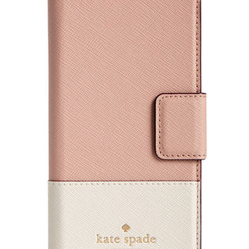 kate spade new york Leather Wrap iPhone 7 Folio Case | macys.com