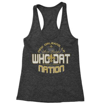 Who Dat Nation New Orleans (Color) Racerback Tank Top for Women