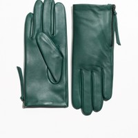 & Other Stories | Side Zip Gloves | Forest Green