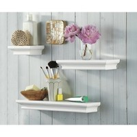 Threshold™ 3 Wall Shelf Set - White