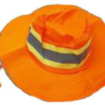 Bright Orange Booney Mens Ventilated Reflective Safety Hat