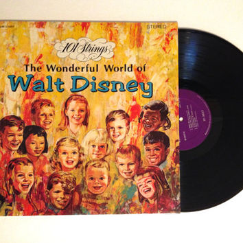 Vinyl Record 101 Strings The Wonderful World Of Walt Disney LP Album Chim Chim Cheree Wish Upon A Star