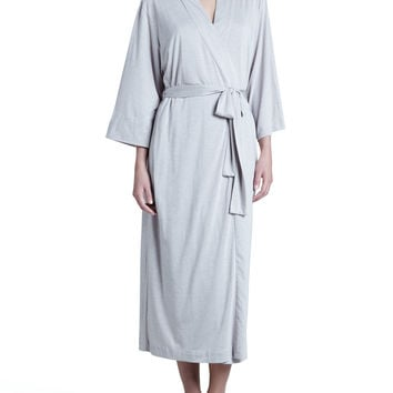 Zen Long Jersey Wrap Robe, Size: