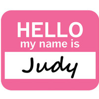 Judy Hello My Name Is Mouse Pad