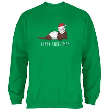 Ferry Merry Christmas Ferret Mens Sweatshirt