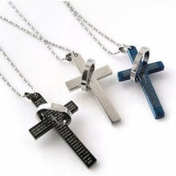 The bible cross ring ring necklace d97d97f698