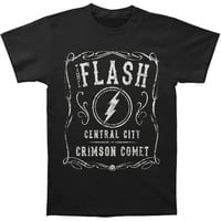 Flash Men's  Crimson Comet T-shirt Black Rockabilia