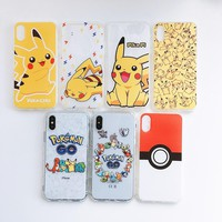 Cute Cartoon s Pikachus Phone case For iphone X Case For iphone 8 Case For iphone 7 8 6S 6 Plus Soft TPU Full Back CoverKawaii Pokemon go  AT_89_9