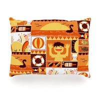 "Tobe Fonseca ""Summer"" Orange Seasonal Oblong Pillow"