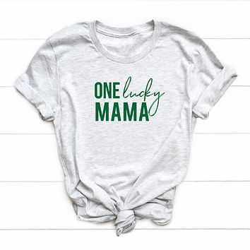 One Lucky Mama Short Sleeve St. Patrick's Graphic Tee
