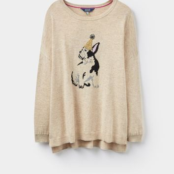 Merry Oat Dog Intarsia Jumper | Joules UK