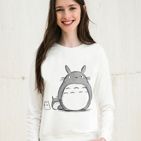 2016 Autumn Clothing Harajuku Sweatshirt Women Hoodies Casual Cartoon Totoro Print Full Sleeve Sudaderas Mujer O-neck Moletom
