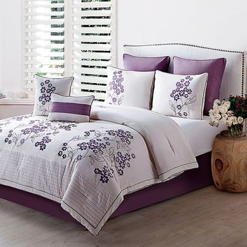 Victoria Classics Aurosa 8-pc. Comforter Set (Purple)