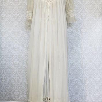 Vintage Lace Maxi Nightgown  Robe Set