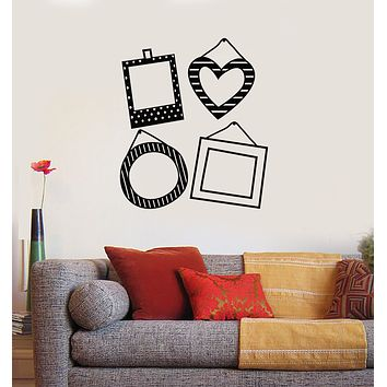 Vinyl Wall Decal Photo Frames For Family Decor Living Room Stickers Mural (g1758)