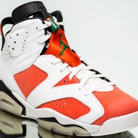 Air Jordan 6 Retro Gatorade AJ6 VI NEW summit white team orange black 384664-145