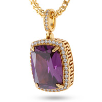 14K Gold Amethyst Crown Julz Necklace