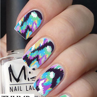 Splotchy Purple Nail Decal