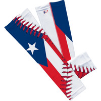 Puerto Rico Flag Baseball Lace Arm Sleeve
