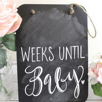Chalkboard Pregnancy Countdown Sign