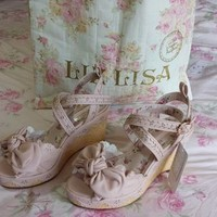 Liz Lisa Wedge Platform Ankle Strap Hime Shoes / Sandals (NwT) from Kawaii Gyaru Shop