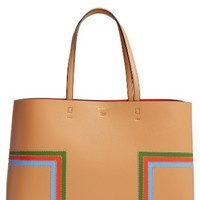 Tory Burch Block-T Stripe Leather Tote | Nordstrom