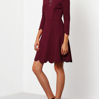Casual Fit And Flare Plain Dresses