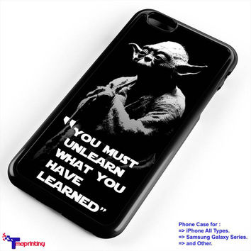 Star Wars Yoda Quotes - Personalized iPhone 7 Case, iPhone 6/6S Plus, 5 5S SE, 7S Plus, Samsung Galaxy S5 S6 S7 S8 Case, and Other