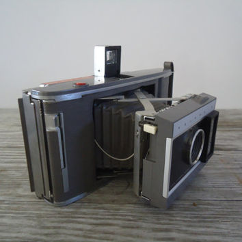 Vintage Polaroid Electric Eye Land Camera J66 with Case Flash Bulbs Manual, 1960s Instant Camera