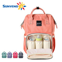 Sunveno Fashion Mummy Maternity Nappy Bag Brand Large Capacity Baby Bag Travel Backpack Desiger Nursing Bag for Baby Care