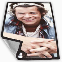 Harry Styles Bandana One Direction Blanket for Kids Blanket, Fleece Blanket Cute and Awesome Blanket for your bedding, Blanket fleece **