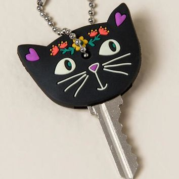 I Love My Cat Black Key Cap