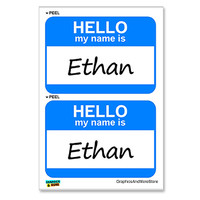 Ethan Hello My Name Is - Sheet of 2 Stickers