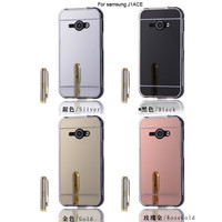 Hot Mirror Style J1 Ace Cases Luxury Mirror Electroplating Soft TPU Cases For Samsung Galaxy J1 Ace Girl Favorite Back Cover