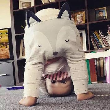 Baby Boys Pants Autumn Kids Clothes Boys Girls Clothes Kawaii Fox Trousers Kikikids Maka Kids Pants Children Animal Cute Pants
