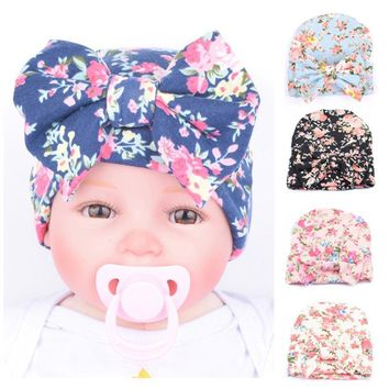 baby hat winter hats Newborn Infant Baby Girls Flower bowknot Beanies Hat Comfortably Hospital Cap Headband gorro infantil girl