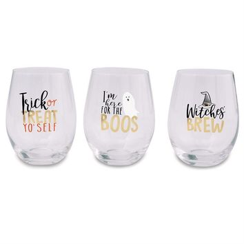 Halloween Stemless Wine Glasses (sold separately)
