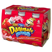 Dannon Danimals Strawberry Yogurt - 3.1oz/6pk