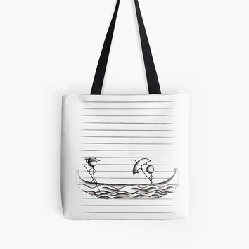 Coloring tote bag, adult coloring page, coloring book for adult, coloring book, adult coloring book, line art, Gondola, boat, bag, gift idea