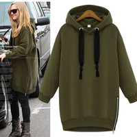 Fashion Women Long Sleeve Hoodie Sweatshirt Casual Hooded Coat Pullover Tops