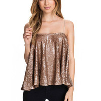 Sequin Cami Top in Gold not available